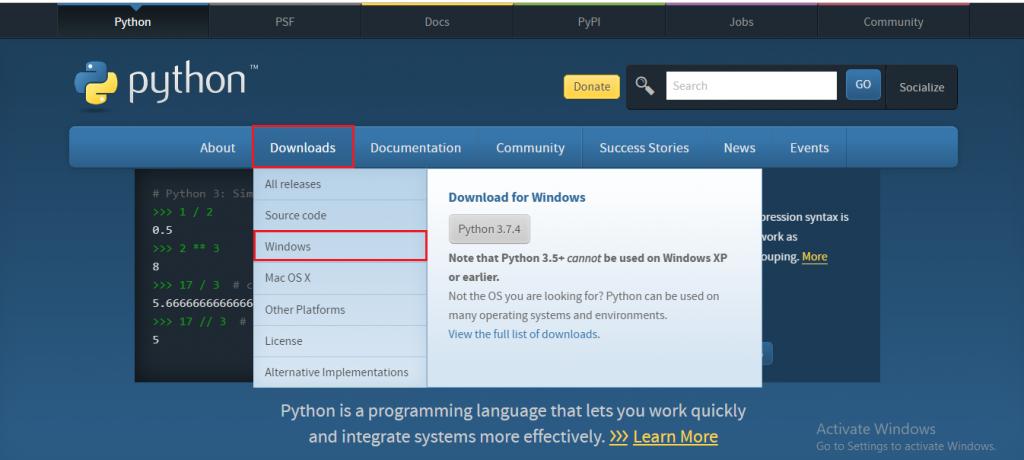 Python Installation guide