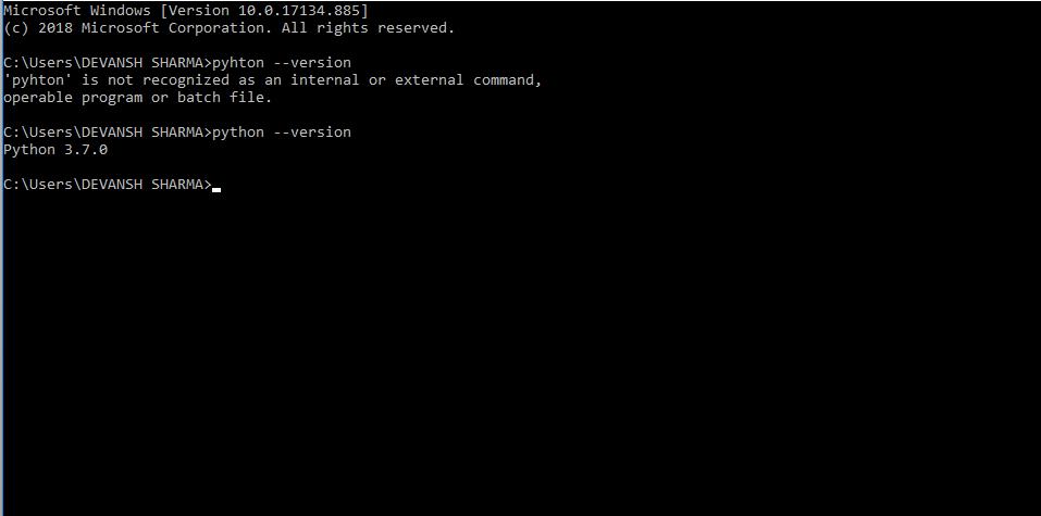 Python Installation step 4