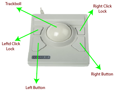 picture of the trackball