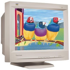 image of the CRT monitor screen