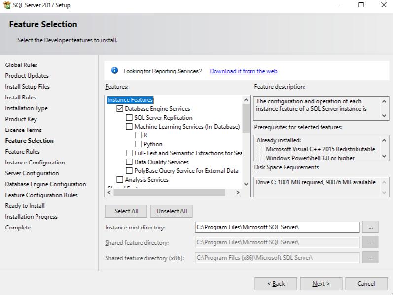 Database Engine Services