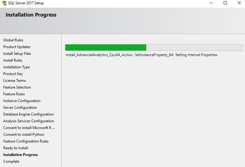 installation process is running