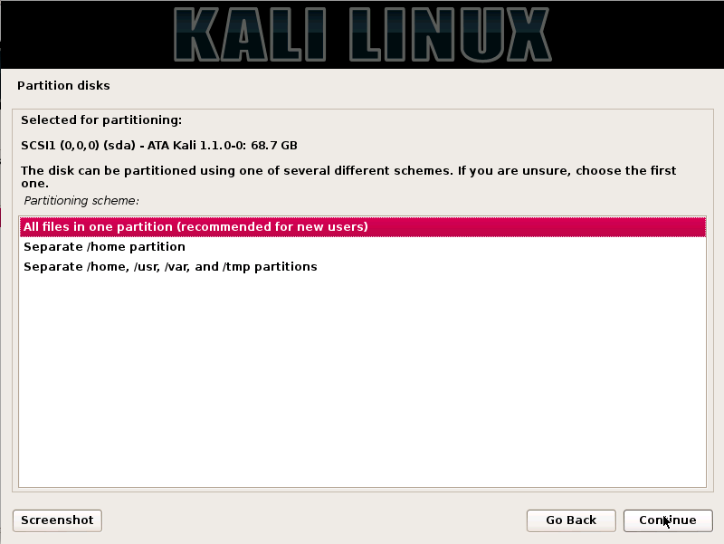Kali Linux Installation Guides step11