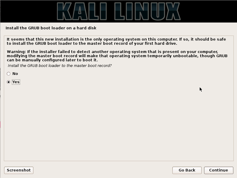 Kali Linux Installation Guides step14