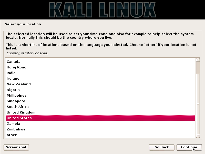 Kali Linux Installation Guides step3
