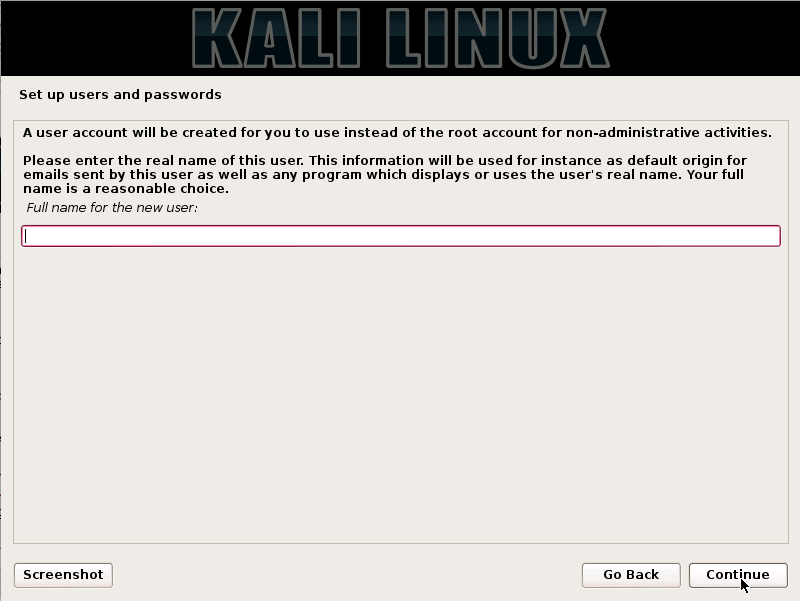 Kali Linux Installation Guides step6