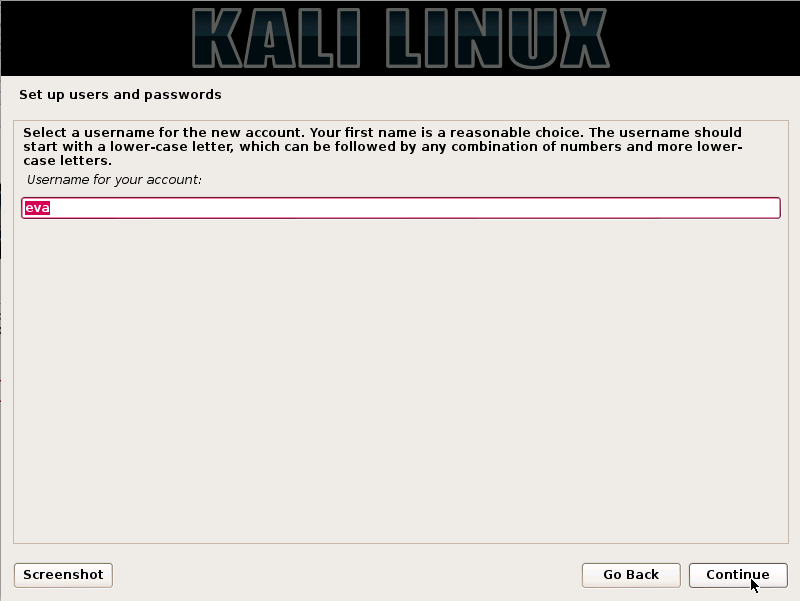 Kali Linux Installation Guides step7