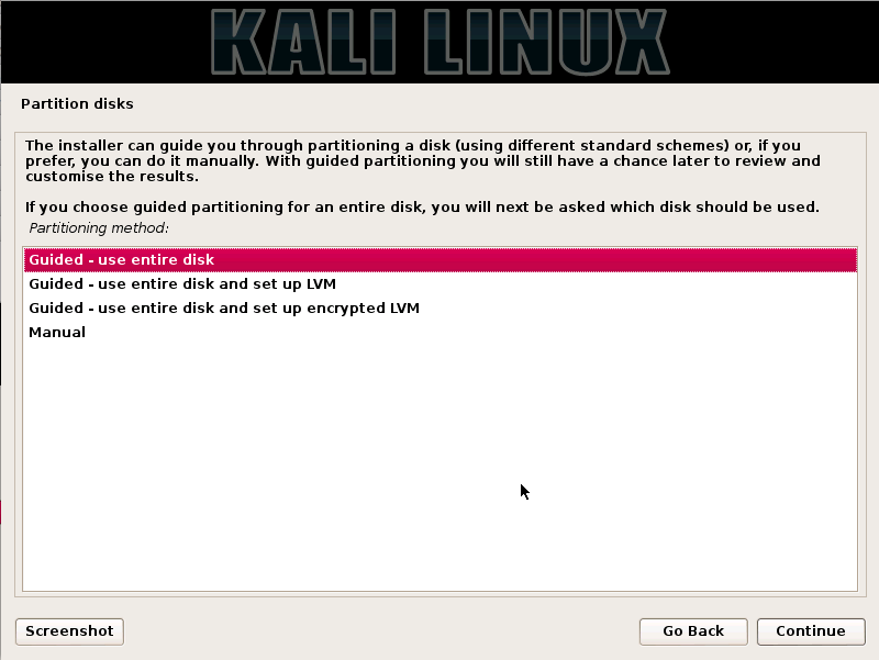 Kali Linux Installation Guides step9