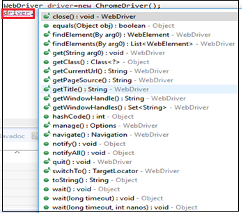 Selenium Web Driver Commands - Tutorial And Example