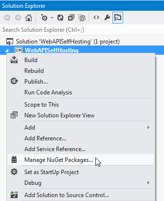 You need to add Microsoft ASP.NET Web API 2.x Self Host package using NuGet.