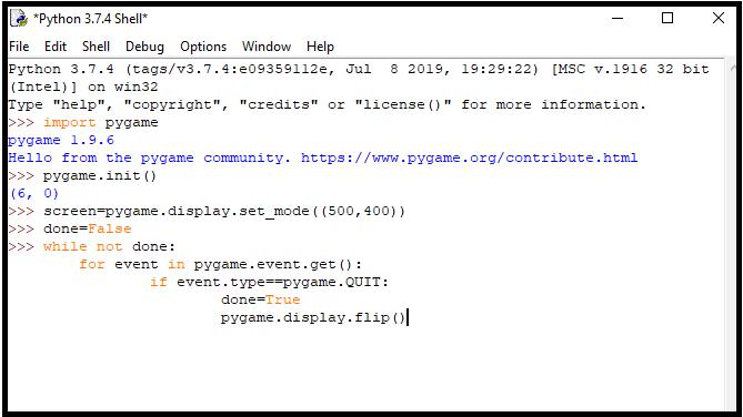 code of blank screen