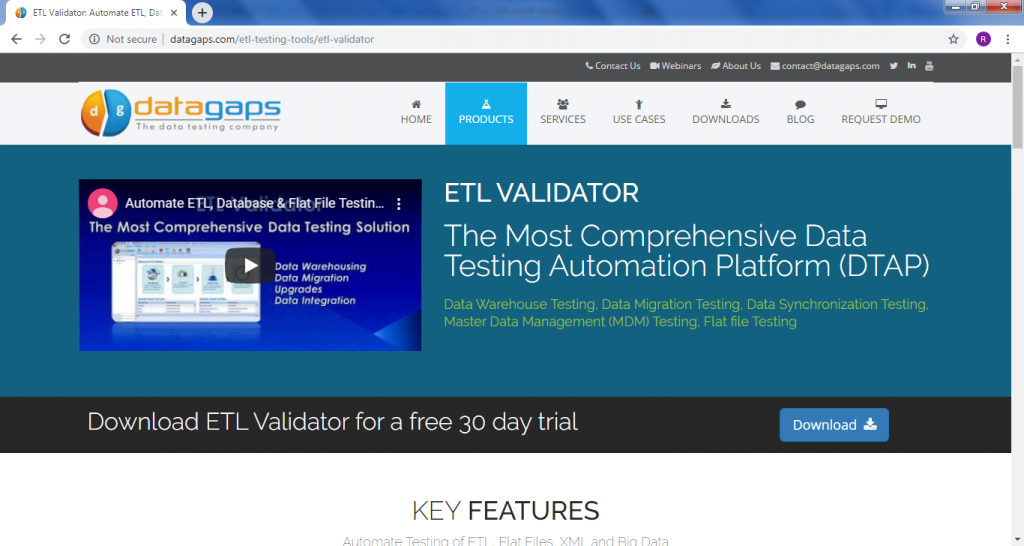 Data gaps ETL Validator