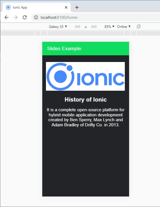 Ionic Slides 2