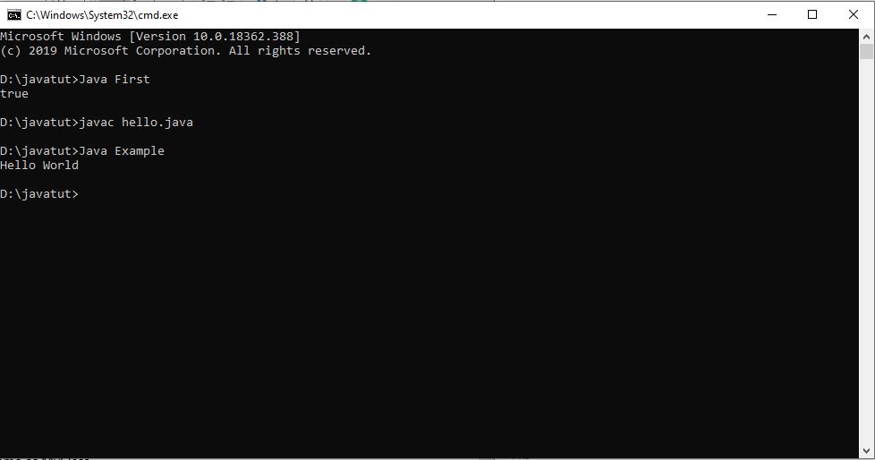 Java Hello World 2