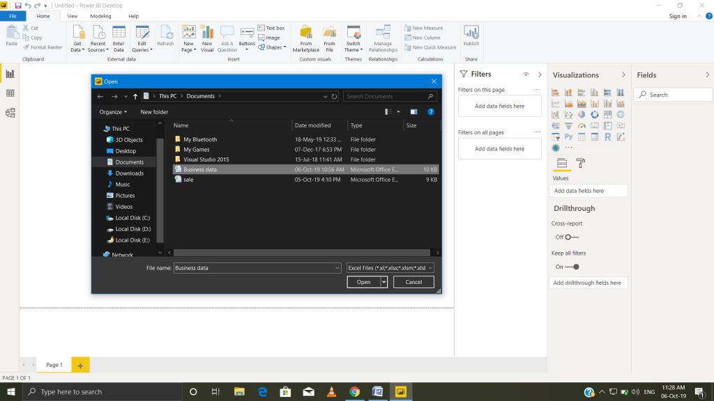 Open file Power BI