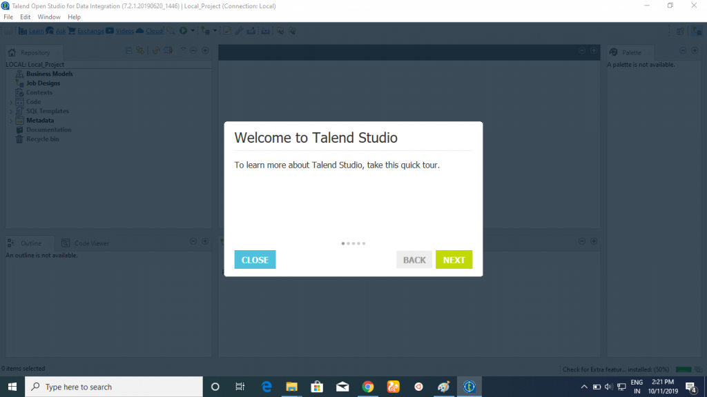 Welcome to talend studio
