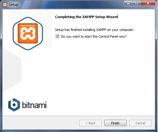 XAMPP  web server is completed.