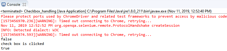 commands in the eclipse console window