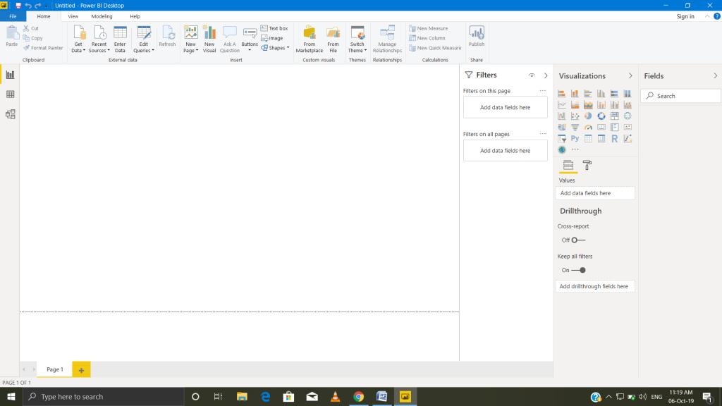 desktop of Power BI.