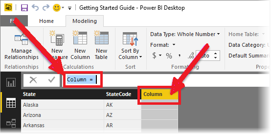 enter the calculated column expression