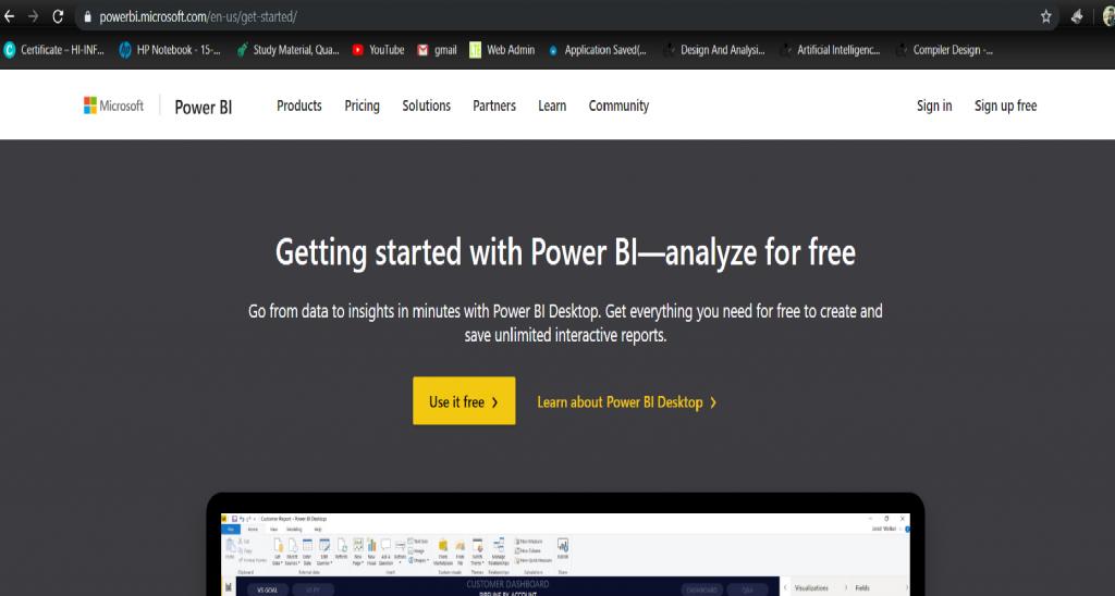to download Power BI