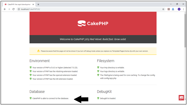 Cake PHP Successful