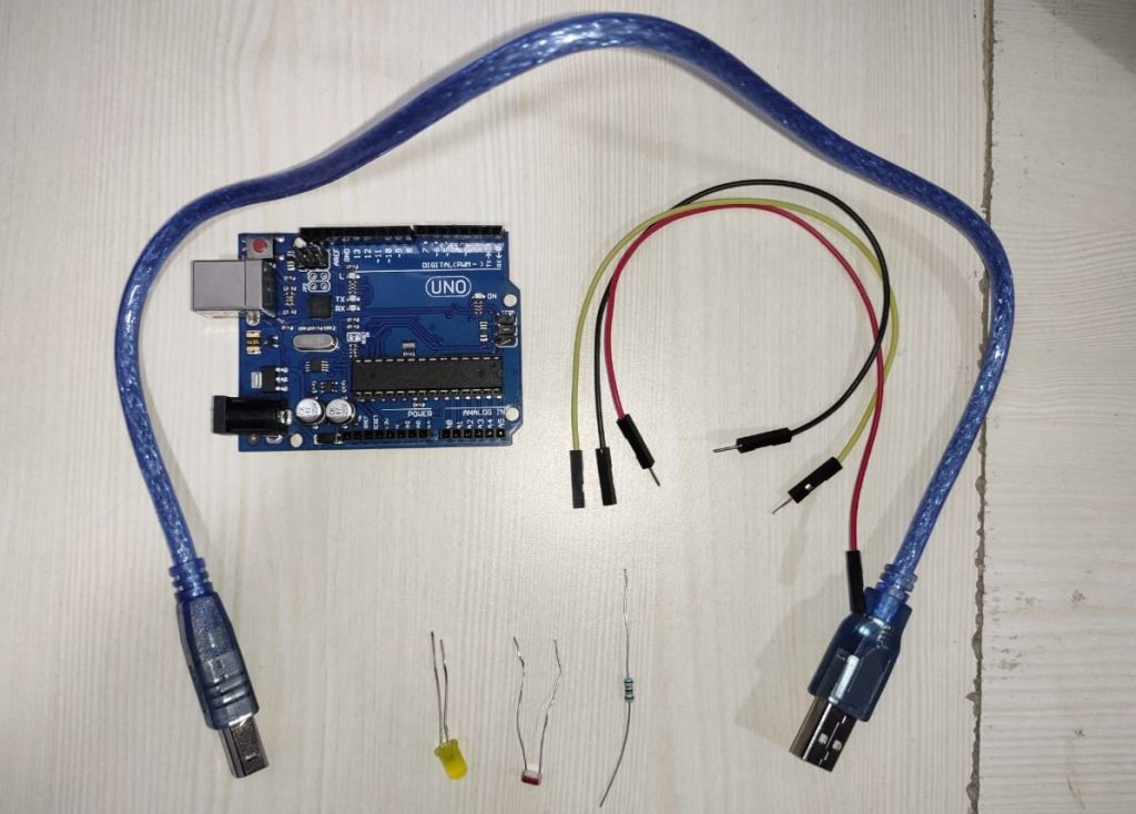 Detect darkness Using Arduino and LDR Sensor