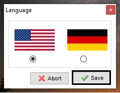 Select the preferred language