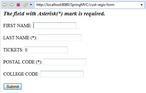 Spring MVC Form Custom Validation 2