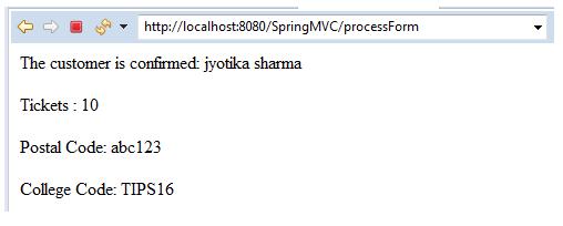 Spring MVC Form Custom Validation 5