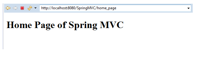 When we click on the Home page,