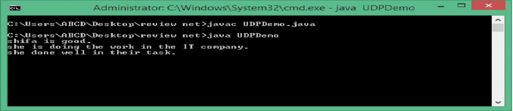 client window after a newline is received
