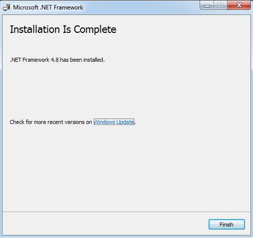 Configuration of .NET Framework10