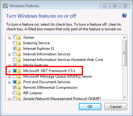 Configuration of .NET Framework5