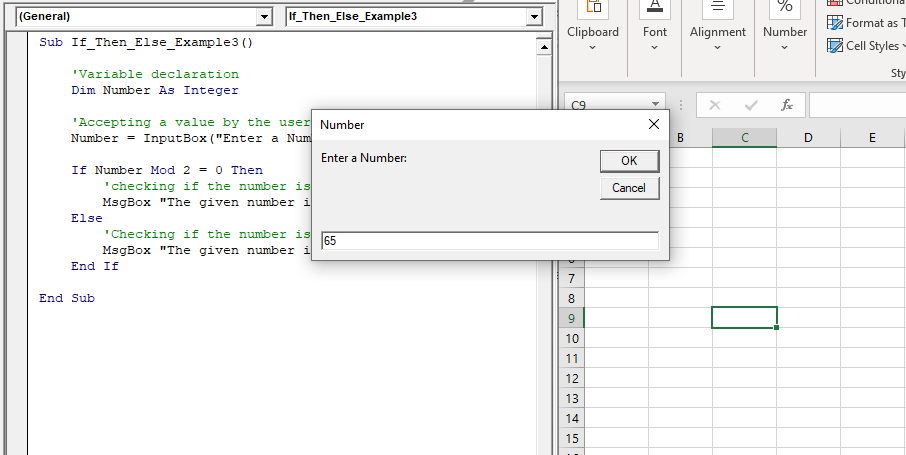 IF THEN  ELSE Statement in VBA4