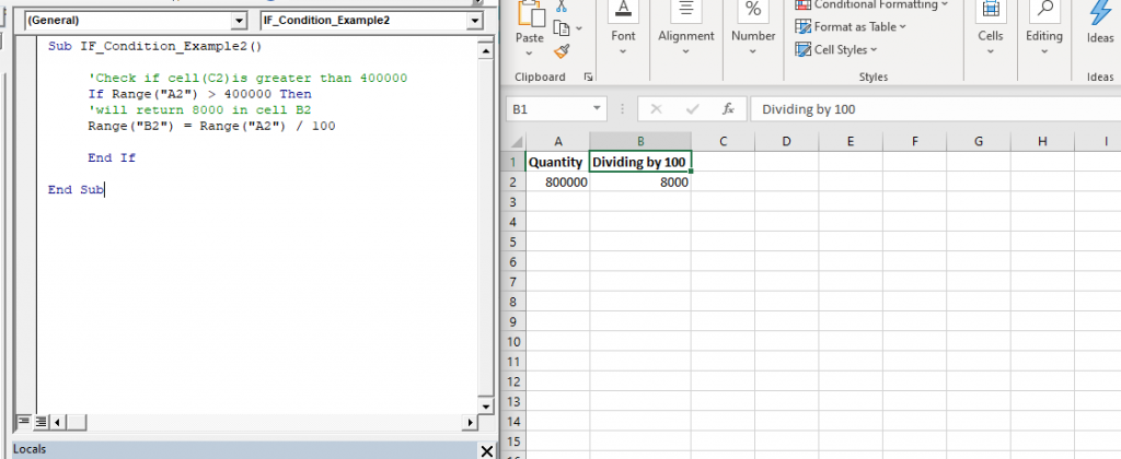 IF THEN Statement in VBA2