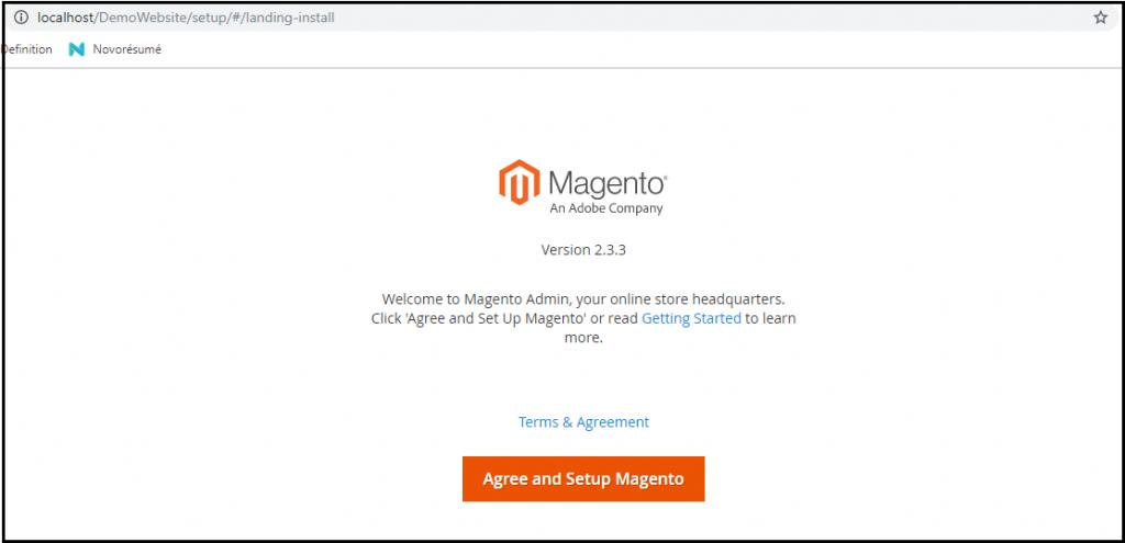 Installation of Magento10