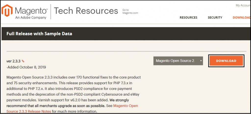 Installation of Magento2