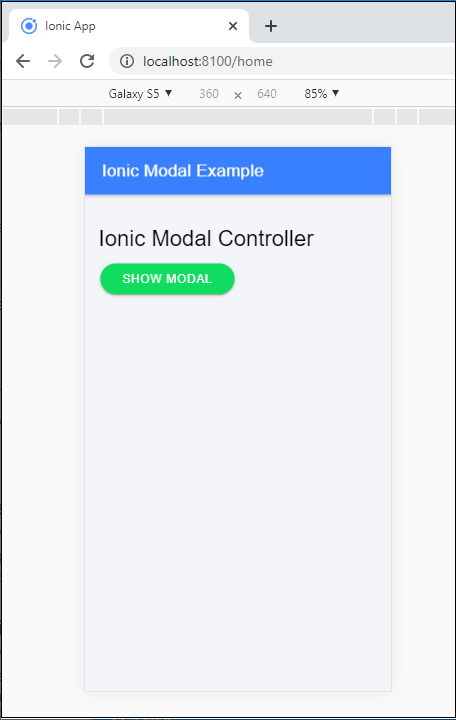 Ionic Modal