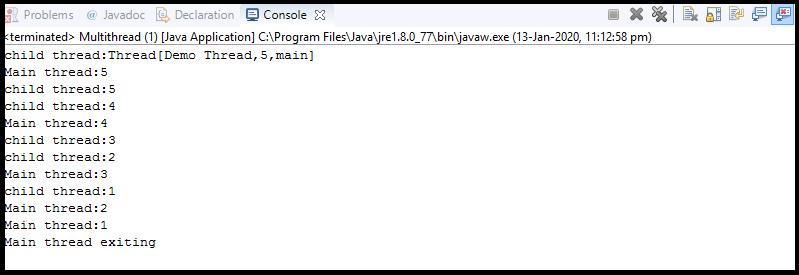 Java Thread Creation2