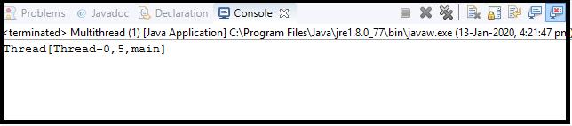 Java Thread class