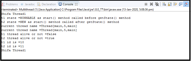 Java Thread class11
