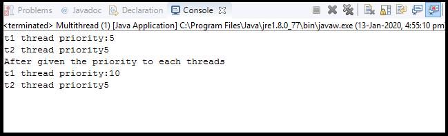 Java Thread class5
