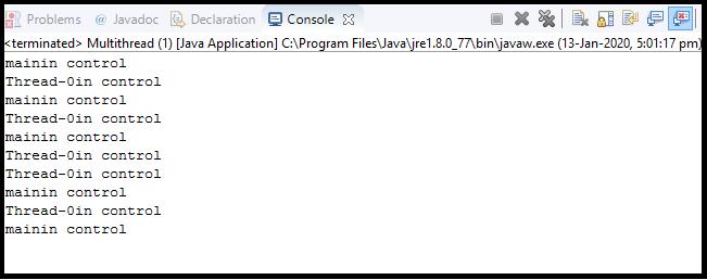 Java Thread class8