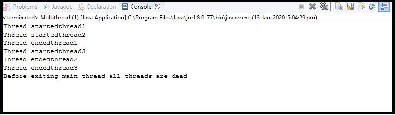Java Thread class9