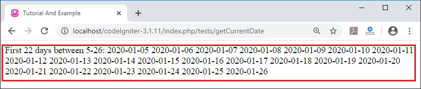 CodeIgniter Date helper