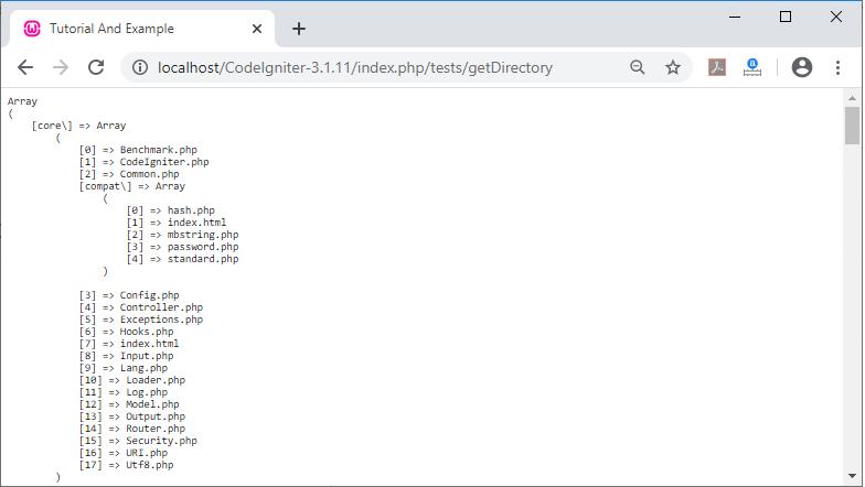 Directory Helper Codeigniter