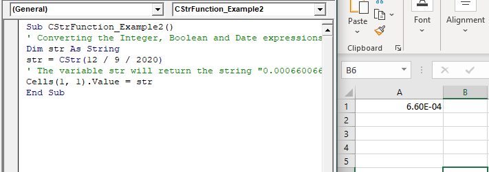 Excel VBA CStr Function