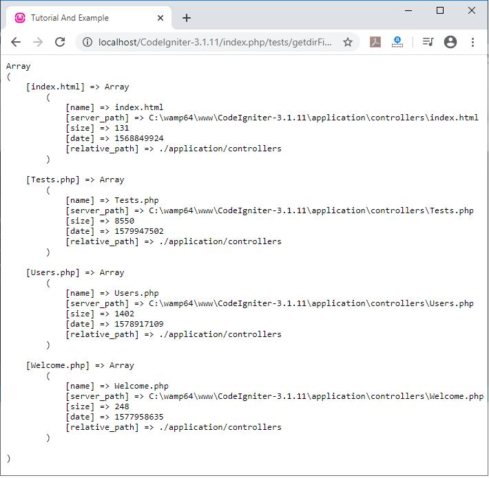 CodeIgniter File Helper