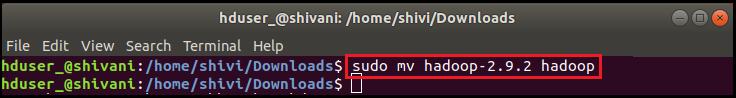 Installation Hadoop on Ubuntu
